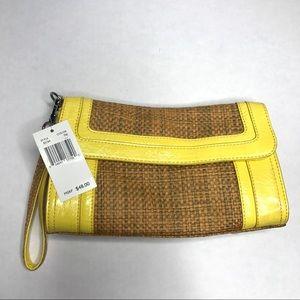 Echo yellow clutch purse